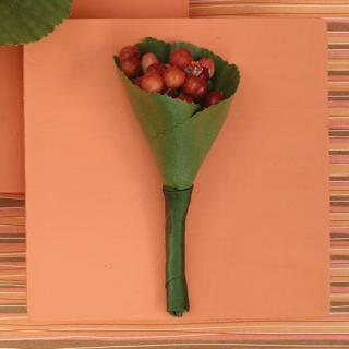 Red/Green Boutonniere