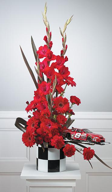 Red Arrangement with Racing Accents