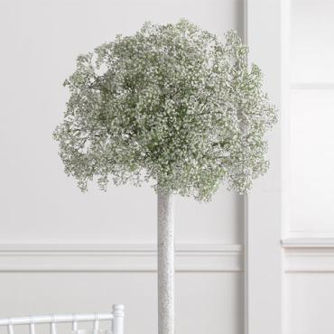 Baby\'s Breath Topiary Centerpiece