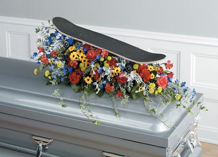 Skate Board Casket Spray