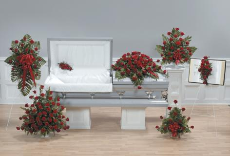 Red Rose Sympathy Arrangements