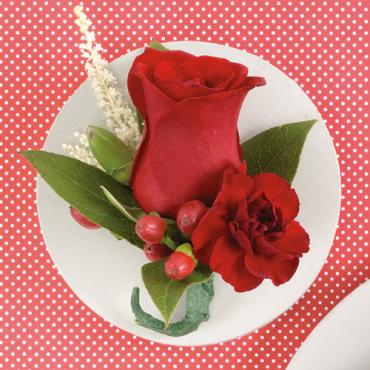 Red Rose Boutonniere 1