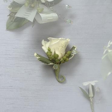 White Rose Boutonniere
