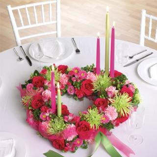 Heart-Shaped Centerpiece