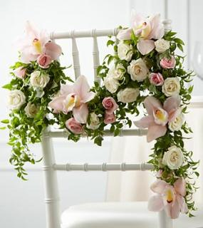 The Orchid Rose™ Chair Décor