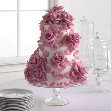 Fondant Cake with Lavender Roses