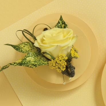 Yellow Rose Boutonniere 1