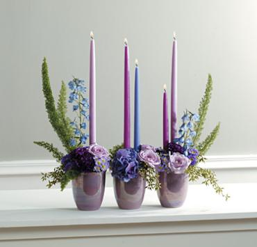 Blue and Lavender Arrangement