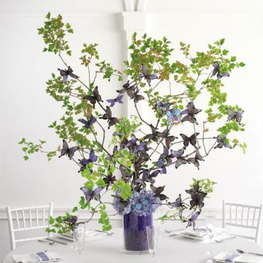 Butterfly and Branch Centerpiece