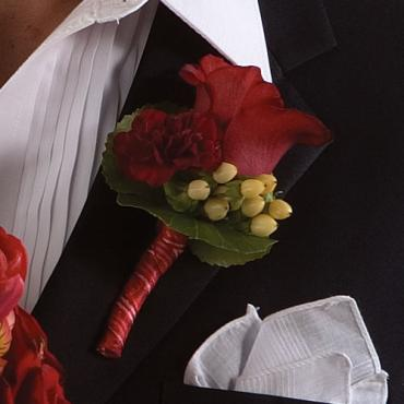 Red Rose Boutonniere 2