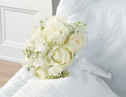 The White Rose Casket Bouquet